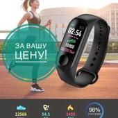 Фитнес браслет М3 русский язык! Фитнес трекер цветной экран! Пульс, давление, шагомер