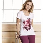 Стильная футболочка идеальная посадка отменное качество Esmara Германия евро 44\46