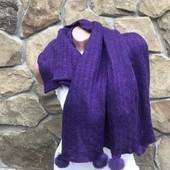 Вязанный шарф с кисточками