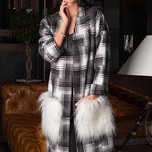 Кардиган из пальтовой ткани