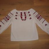 Блуза-вышиванка ручная работа ткань натуральная на 110-116