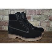 * Зимние ботинки Timberland. натуральная кожа/мех. распродажа последних размеров -70%
