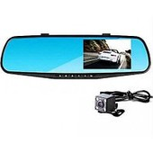 2 камеры !!! Видеорегистратор в виде зеркала с экраном и дополнительной камерой full hd.