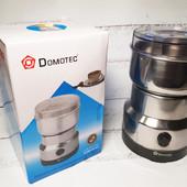 ✅ Кофемолка Domotec MS-1206 150W для измельчения кофе, орехов, бобов и зерновых нержавеющая сталь