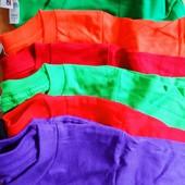 Разноцветная футболка Anvil на 6-7 лет ( садик и школа, танцы) смотрите описание