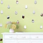 Декоративные зеркальные наклейки.набор-4шт.1 на выбор
