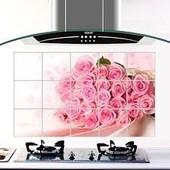 Фольгированные наклейки для кухни Kitchen Sheet размер 750*450