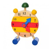 Деревянная игрушка Часы-пазл.