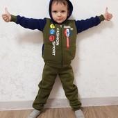 Детский костюм на флисе. 3-7 лет. Три цвета
