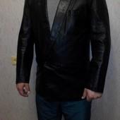 Кожаная мужская куртка - пиджак