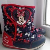 Сапоги ботинки дутики Минни Маус Disney р. 29 стелька 18,5 см