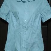 Фирменная новая приталенная блуза р. 14 коттон
