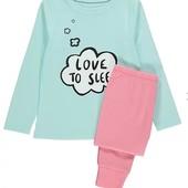 трикотажная пижама Georgе. размер 3-4 года на рост 98-104 см. новая, в упаковке