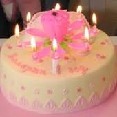 Свеча для торта - Лотос (не вращается)