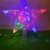 """Верхушка на елку звезда """"Звезда-верхушка"""" 15 led на елку ( 19 см)"""