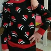 2 новогодних фирменных свитерка одним лотом! 124-128рр