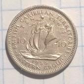 Британские Карибы 10 центов 1956