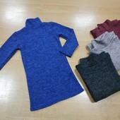Утепляемся 8 цветов! Тепленькое платье ангора софт для девочки! Размер и цвет на выбор! + Юбка в по!
