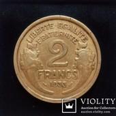 Монета 2 франка 1933 года, Франция.