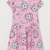 ♥-платье H&M с единорожками р.4-6,,6-8 или 8-10-!♥
