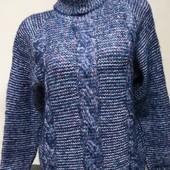 Модный теплый вязаный свитер на выбор
