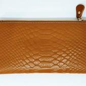 Натуральная кожа, женский кошелек, премиум качество,бежевый.