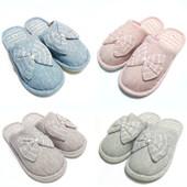 Хит продаж!!! Красивые тапочки с бантиком! Ножкам уютно и комфортно!