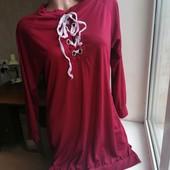 Лоты комбинирую!!! Легкое бордовое платье в спортивном стиле со шнуровкой