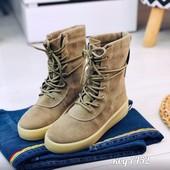 Женские деми ботинки из эко замши