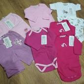 Сток! Комплект новой одежды для малышки от рождения!