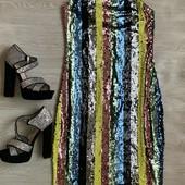 Платье миди в пайетках