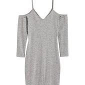 Модное нежное фирменное платье Divided от H&M, открытые плечи
