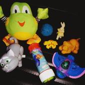 Мягкая игрушка лягушка, собачка, кот, зайчик, самолет, фигурки. Лот все что на фото!