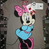 Хлопковая футболка Disney с любимой крошкой Minnie Минни р.104