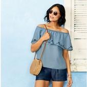 Очаровательная блуза в стиле кармен от Esmara. 100% lyocel р.42 евро