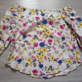 Фирменная новая красивая блуза р.14-16 коттон+нейлон+эластан
