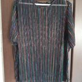Фирменная красивая блуза с разноцветными блестящими нитями р.20-26 отличное состояние