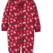Флисовый теплый комбинезон-пижама lupilu! Германия! 1-2, 2-4года