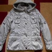 куртка осенне-весенняя серебристого цвета