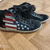 Замшевые осенние ботинки р.36 (23,5 см)