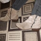 ботинки натуральний замш на флісі marko tozzi 39
