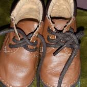 Пинетки ботиночки для самых маленьких кожа