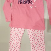 Lupilu лёгкая пижама девочке 98-104 см