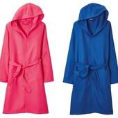 Шикарный халат с капюшоном яркий коралловый цвет 100% немецкое качество Miomare Германия 36\38 S
