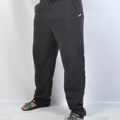 Штаны спортивные мужские утеплённые с начёсом , размер 46/48
