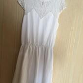 Дуже оригінальне і гарне біле плаття Воздушне В чудовому стані Стильний фасон