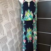 Фирменное красивое трикотажное платье-макси в отличном состоянии р.12-16 оверсайз