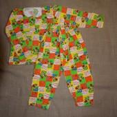 нова тепла на 4-5 лет 32(64) одна на выбор новая теплая байковая 100% хлопоковая пижама в садик