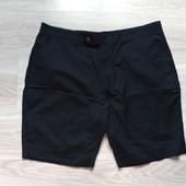 Фирменные новые мужские шорты тёмно-синего цвета р.38 на ПОТ-48 лен+коттон
