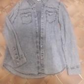 Рубашка джинсовая ,размер S